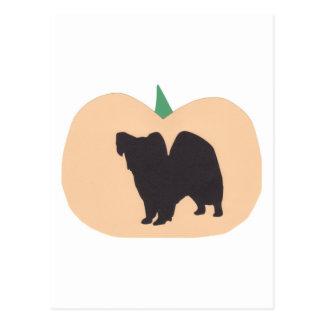 Calabaza Papillon del feliz Halloween Tarjetas Postales