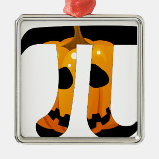 Calabaza pi adorno navideño cuadrado de metal