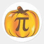 Calabaza pi - Feliz Halloween Etiquetas