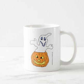 Calabaza que frecuenta del fantasma taza