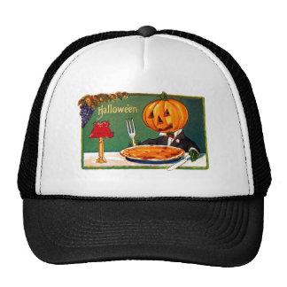 Calabaza retra de Halloween del kitsch del vintage Gorra