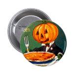 Calabaza retra de Halloween del kitsch del vintage Pins