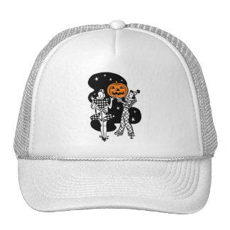 Calabaza retra de Halloween del vintage Gorras