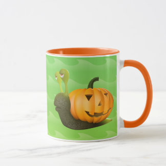 calabaza Shell de Halloween del caracol 3d