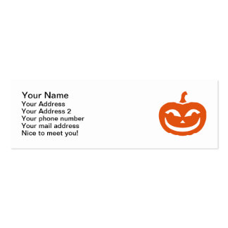 Calabaza sonriente de Halloween Tarjetas De Visita Mini