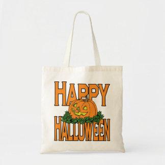 Calabaza sonriente del feliz Halloween Bolsa
