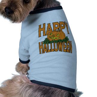 Calabaza sonriente del feliz Halloween Camisetas De Mascota