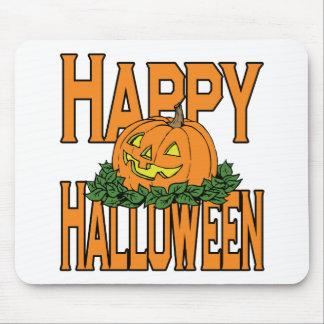 Calabaza sonriente del feliz Halloween Alfombrilla De Raton