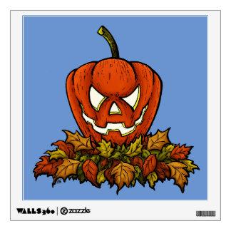calabaza sonriente malvada de Halloween Vinilo Decorativo
