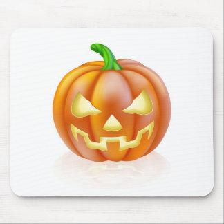 Calabaza tallada de Halloween Tapete De Raton