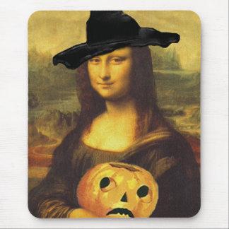 Calabaza tallada JOL Jack de la bruja de Mona Lisa Alfombrillas De Ratones
