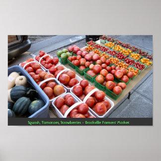 Calabaza, tomates, fresas - granjeros de Brockvill Impresiones