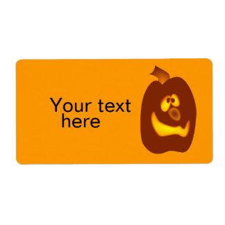 Calabaza torpe de la Jack-o-Linterna de Halloween  Etiqueta De Envío