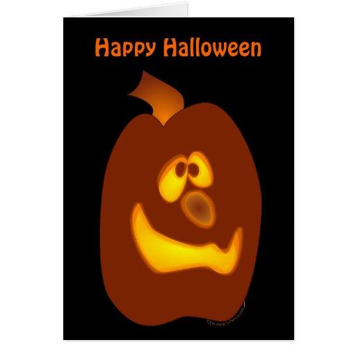 Calabaza torpe de la Jack-o-Linterna de Halloween Tarjeta De Felicitación