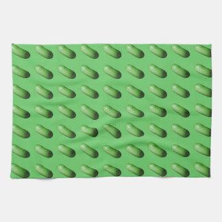 Calabaza verde (melón de invierno) toalla de mano