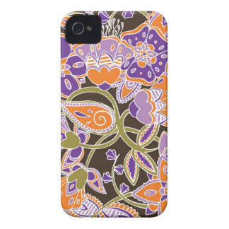 Calabaza y ciruelo florales funda para iPhone 4