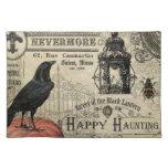calabaza y cuervo modernos de Halloween del Manteles Individuales