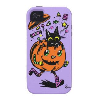Calabaza y gatito Peppy Halloween iPhone 4/4S Funda