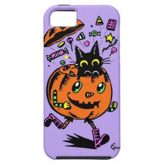 Calabaza y gatito Peppy Halloween iPhone 5 Case-Mate Protector