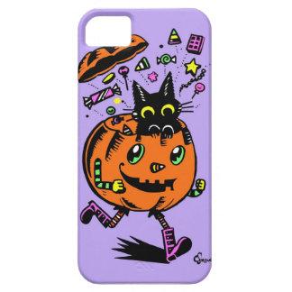 Calabaza y gatito Peppy Halloween iPhone 5 Case-Mate Cárcasas