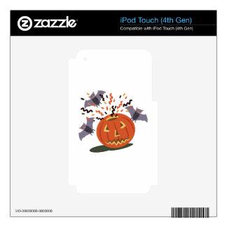 Calabaza y palos skins para iPod touch 4G