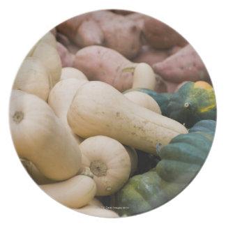 Calabaza y patatas dulces plato para fiesta
