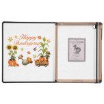 Calabaza y Turquía felices de las hojas de otoño iPad Carcasa