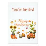 Calabaza y Turquía felices de las hojas de otoño Comunicados Personalizados