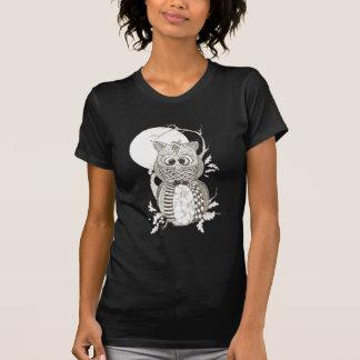 Calabaza Zentangle Halloween del búho Camisetas