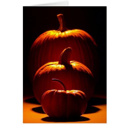 Calabazas adaptables de la estación de Halloween Felicitación