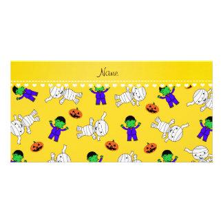 Calabazas amarillas conocidas de la momia del tarjeta personal con foto
