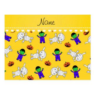 Calabazas amarillas conocidas de la momia del tarjetas postales
