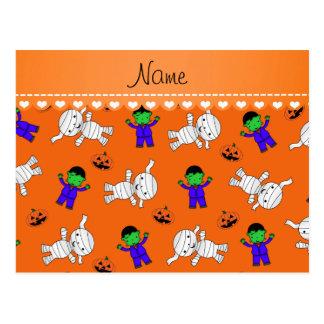 Calabazas anaranjadas conocidas de la momia del postales