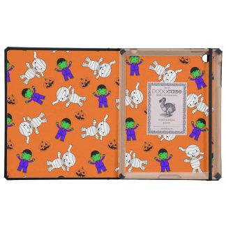 Calabazas anaranjadas lindas de la momia de iPad cárcasa