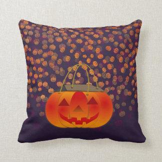 Calabazas anaranjadas y almohada de tiro cuadrada cojín decorativo
