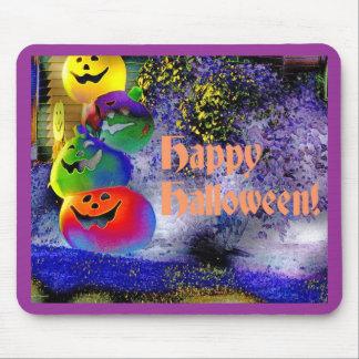Calabazas apiladas de Halloween en arte del Gimp Tapetes De Ratones