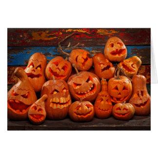 Calabazas asustadizas 2 de Halloween de la Tarjeta De Felicitación
