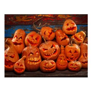 Calabazas asustadizas 2 de Halloween de la Tarjeta Postal