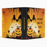 Calabazas asustadizas de Halloween y Luna Llena