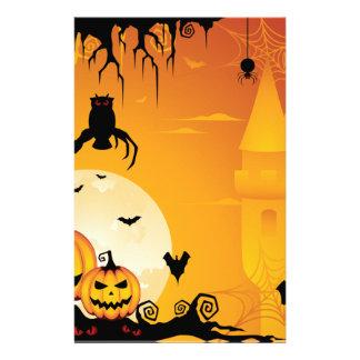 Calabazas asustadizas de Halloween y Luna Llena Personalized Stationery
