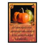 Calabazas/calabaza de Halloween que talla al Invitación 12,7 X 17,8 Cm