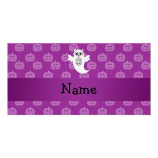 Calabazas conocidas personalizadas de la púrpura d tarjetas fotográficas personalizadas