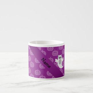 Calabazas conocidas personalizadas de la púrpura d tazas espresso