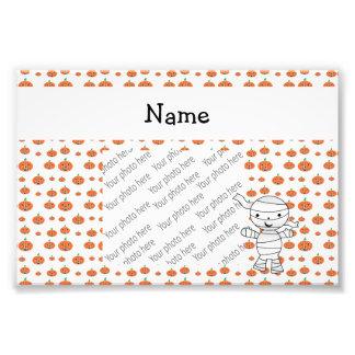 Calabazas conocidas personalizadas del naranja de fotografías
