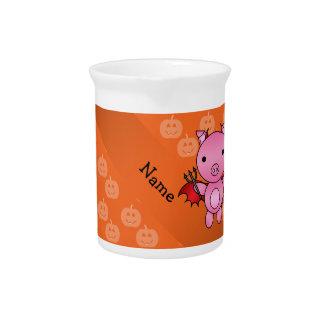 Calabazas conocidas personalizadas del naranja del jarras de beber