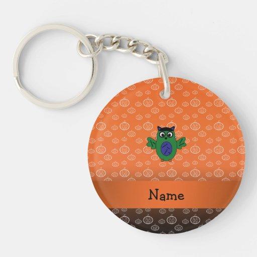 Calabazas conocidas personalizadas del naranja del llavero