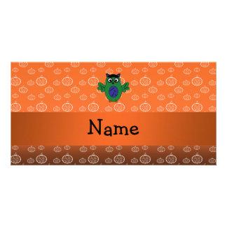 Calabazas conocidas personalizadas del naranja del tarjetas fotograficas