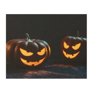 Calabazas de Halloween Cuadro De Madera