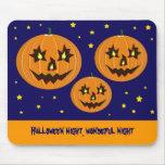 calabazas de Halloween del vuelo Alfombrillas De Ratón