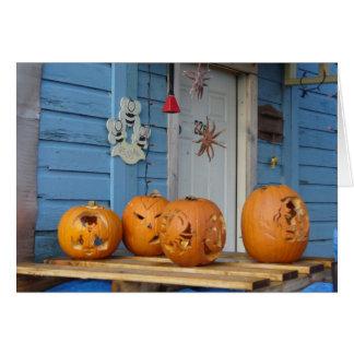 Calabazas de Halloween en la isla de Unalaska Tarjeta De Felicitación